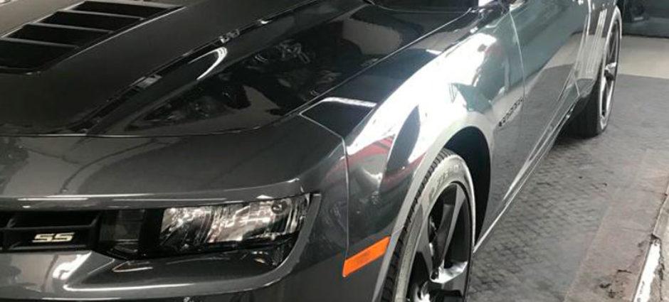 Jogo de Rodas Pintado Preto Fosco – Automóvel Camaro