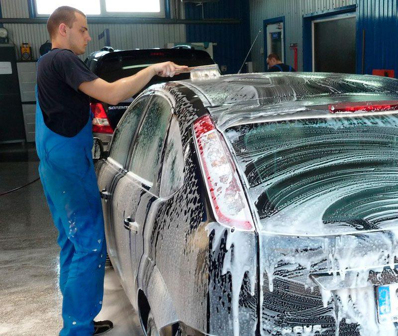 lavagem do carro