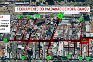 Mapa acesso as ruas Nova Iguaçu