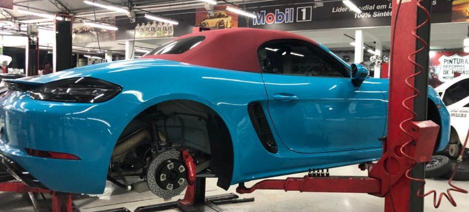 Porsche 718 Boxster 2019 Miami Blue na Full Pneus!