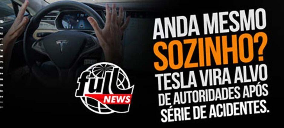 Tesla vira alvo de autoridades após série de acidentes